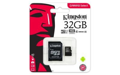 Карта памяти Micro SD 32Gb Kingston SDCS/32GB + adapter