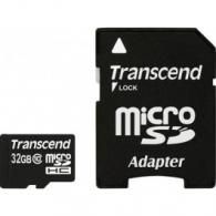 Карта памяти Micro SD 32Gb Transcend TS32GUSDHC10 + SD adapter