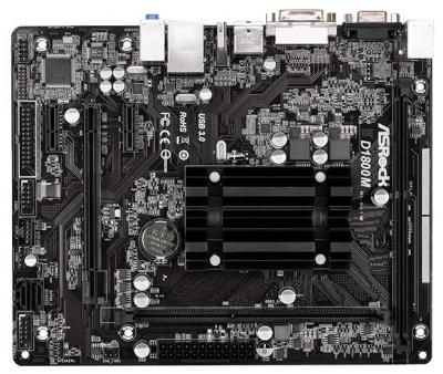 Материнская плата ASRock D1800M / Intel Dual-Core Processor J1800 2.41GHz / mATX / RTL